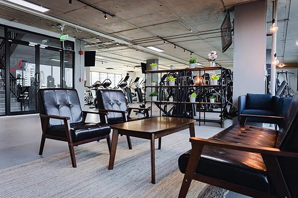 IQ Fitness reception area